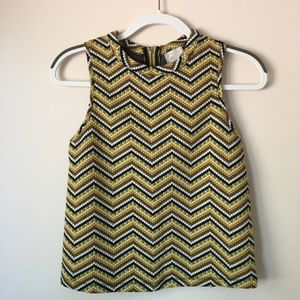 Postmark chevron dot retro crop tank
